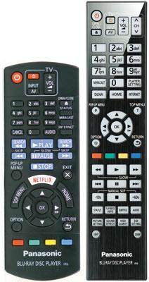 Zwei-Klassen-Gesellschaft: Dem Top-Modell BDT 700 liegt eine edle Fernbedienung mit beleuchteten Tasten bei (rechts), Käufer des BDT 570 bekommen nur den Standard-Geber der 100 Euro teuren Einstiegsgeräte.
