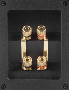 Die CX 90 von Saxx lässt sich dank des doppelten Terminals auch per Bi-Wiring und Bi-Amping betreiben.