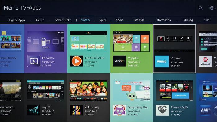 Nachschub: Wem die ab Werk installierten Apps nicht genügen, der wird in Samsungs Download-Portal fündig. Bemerkenswert ist die Vielzahl an Videoportalen.