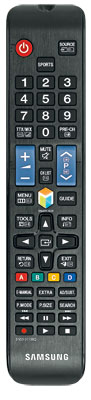 Anders als bei den teureren Samsungs liegt dem 55 JU 6850 nur der normale Signalgeber bei; die Smart Control mit Bewegungssensor gehört nicht zum Lieferumfang.