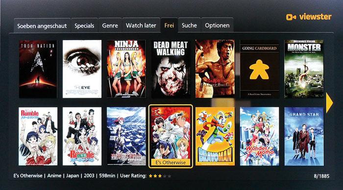 """Gratis Videothek: Die App """"viewster"""" bietet kostenlosen Zugriff auf knapp 1.900 teils deutschsprachige Filme und Serien."""