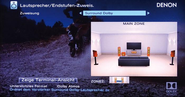 Atmos-Setup 3: Aufsatz-Boxen können auf den Front- oder Surround-Lautsprechern platziert werden.