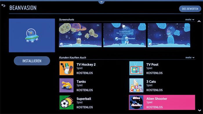 Für Jung und Alt: Die Minispiele eignen sich perfekt, um Werbepausen oder Langeweile zu überbrücken. Leider nutzen sie nicht den Gyrosensor der Magic Remote.