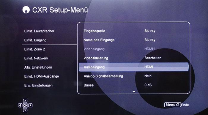 Besser: Das Basismenü ist informativ und übersichtlich; u.a. lässt sich jeder Eingang individuell konfigurieren.