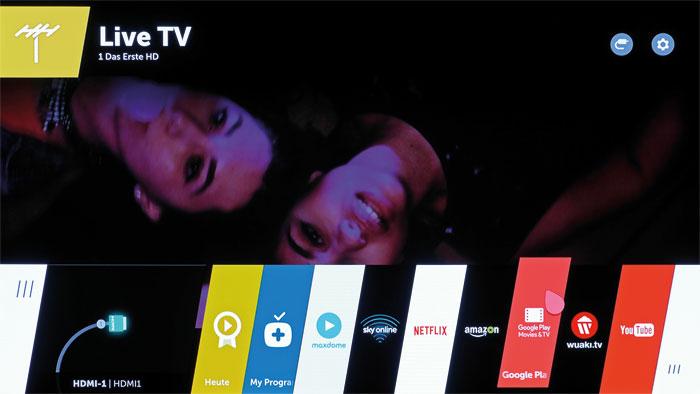 Invasion aus dem Android-Lager: Neben Maxdome, Netflix und Amazon Instant Video ist seit Kurzem auch Googles Online-Videothek auf dem LG-TV vorinstalliert.