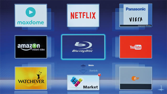 Smarte Alternative: Der Panasonic-Player ergänzt das Smart-TV-Angebot von dürftig ausgestatteten Fernsehern um UHD-Streaming-Dienste wie zum Beispiel YouTube.