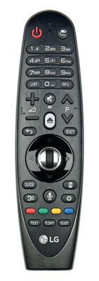Ausgezaubert: LGs Magic Remote ist zwar keine Besonderheit mehr, an Bedienkomfort büßt sie dank des integrierten Gyrosensors dennoch nicht ein.