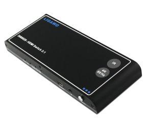 In-akustiks HDMI Switch 3x1 schaltet die Signale von drei HDMI-Eingängen auf einen HDMI-Ausgang.