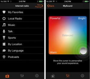 Per SoundStudio-App für das iPhone kann man den Klang anpassen. Verschiebt man den Cursor zu den Ecken, wird er kraftvoller, heller oder dünner.