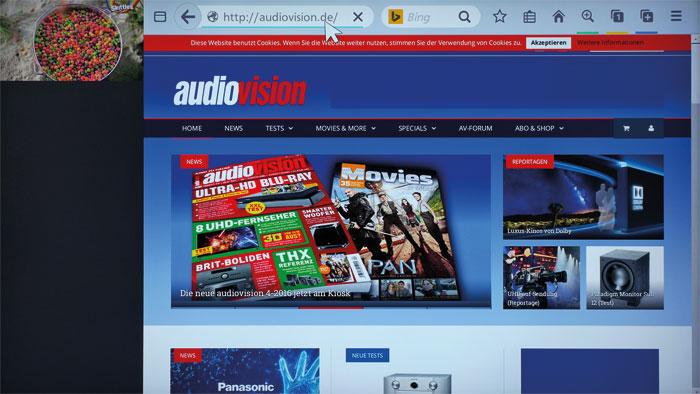 Surfen in Werbepausen: Während der Nutzung des Firefox-Web-Browsers läuft in einem kleinen Fenster das TV-Programm weiter. Die Navigation gelingt flüssig.