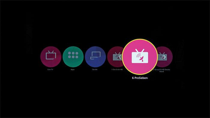 Individuelle Sortierung: Auf dem Home-Screen finden sich nicht nur häufig genutzte Anwendungen, es können auch Apps und Lieblingssender darauf abgelegt werden.
