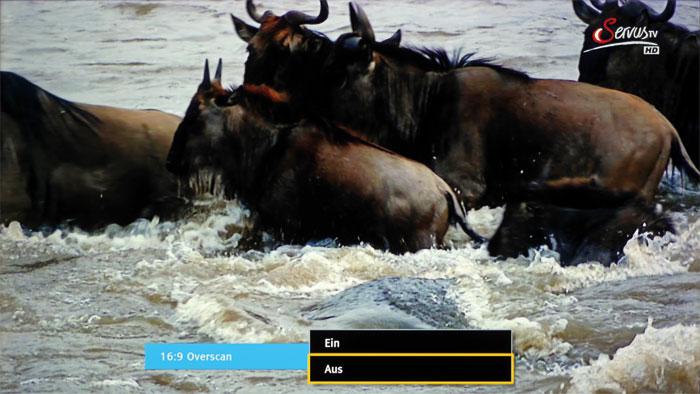 Mehr sehen: Der Bildbeschnitt beziehungsweise Overscan lässt sich im Tuner-Betrieb komplett abschalten, was speziell bei SDTV-Sendern die Feinzeichnung verbessert.