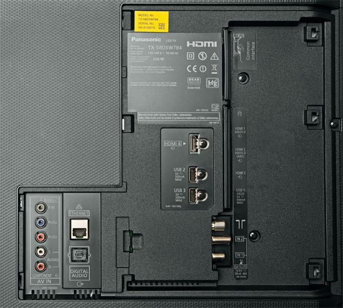 Nur die Hälfte der vier HDMI-Eingänge kommt mit 4K-60p-Signalen und dem HDCP-2.2-Kopierschutz zurecht. Die TV-Funktionen lassen keine Wünsche offen.