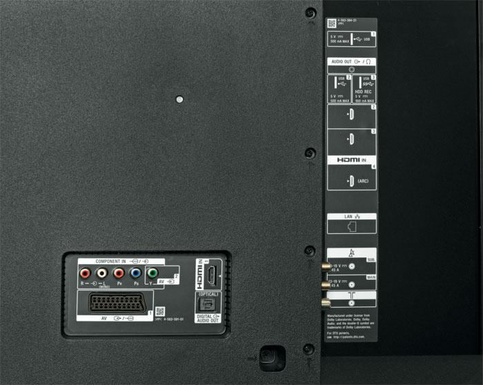 Reservebank: Einer der vier HDMI-Eingänge wurde auf die Rückseite verlegt; abgesehen davon unterscheidet er sich aber nicht von den anderen. Analoge Audio- und Videoquellen sind ohne Adapter am TV-Gerät anschließbar.