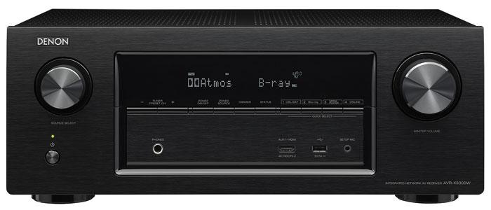 Sowohl den hier abgebildeten AVR-X3300W als auch die kleinen Brüder AVR-X2300W und AVR-X1300W bekommt man ausschließlich in Schwarz. Silberne Alternativen offeriert Denon nur in den höheren Preisklassen.