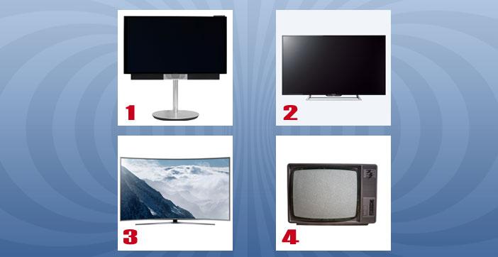 Vier Fernseher - welcher gefällt Ihnen spontan am besten?