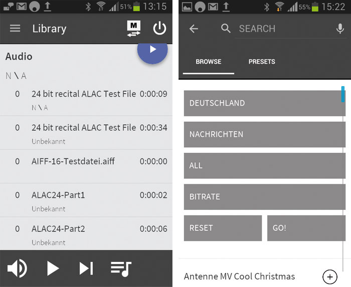 """""""Stream Magic""""-App: Netzwerk-Funktionen via USB, UPnP, Webradio etc. steuert ausschließlich die App."""