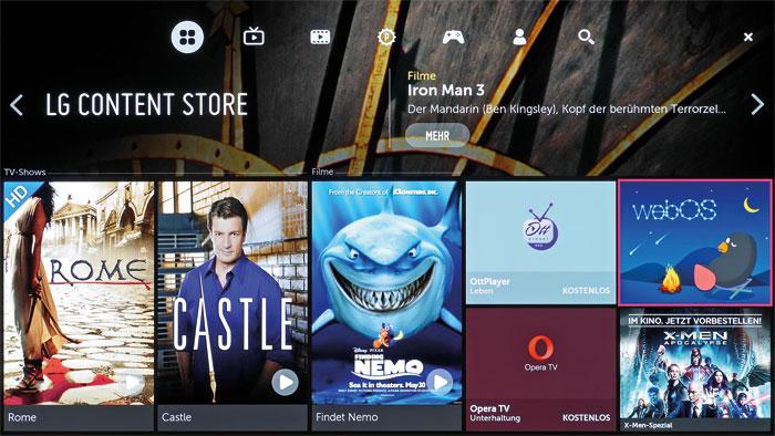Langeweile kommt bei LGs Smart-TV-Angebot gewiss nicht auf. Der Content Store stellt neben Online-Diensten auch Minispiele für zwischendurch zum Download bereit.