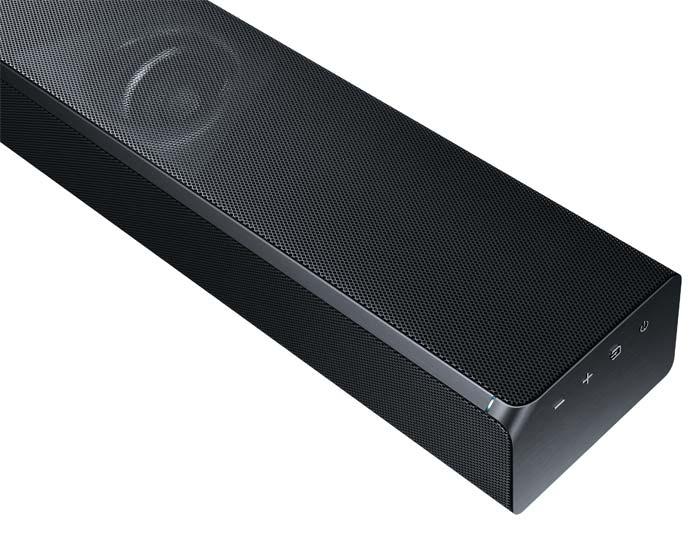 Schönes Design und multifunktional. Soundinhalte lassen sich via Bluetooth, Wlan, digitalem und optischem Eingang sowie über HDMI übertragen.