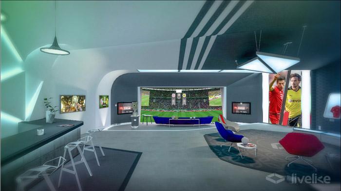 So sieht die komplette VR-Lounge aus