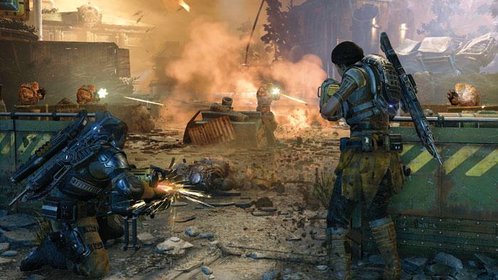 """Die ersten beiden Xbox-One-Spiele mit HDR-Support sind """"Forza Horizon 3"""" (links, 27. September) und """"Gears of War 4 (rechts, 11. Oktober). Anfang 2017 folgt """"Scalebound""""."""