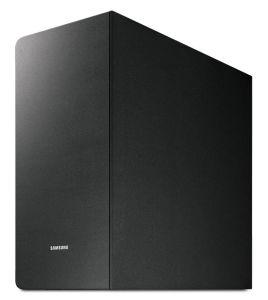 Der 40 x 20,4 x 41,5 cm (H/B/T) große Subwoofer PS-KW1-1 gehört zum Set und erweitert den Sound mit einem kräftigen Bassfundament.