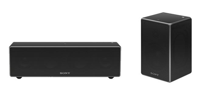 Der ZR5 und ZR7 (links) haben das gleiche Design, unterscheiden sich aber in der Auswahl der Anschlüsse. HG1-Speaker (rechts)