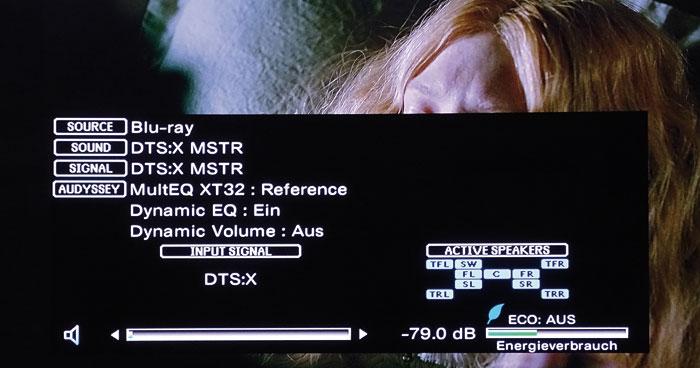 Vorbildlich: Das Info-Menü zeigt per Tastendruck ein- und ausgehende Tonsignale samt Kanalbelegung an.