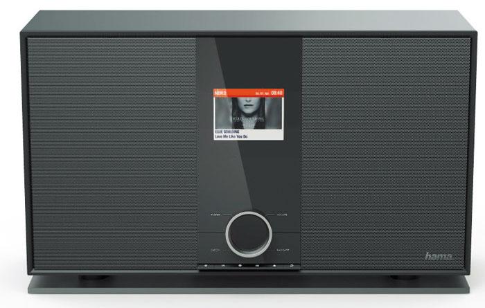 Das 3,2 Zoll große Farbdisplay des Hama-Hybridradios ist ein echter Hingucker. Es spielt neben UKW- und Digitalradio auch Sender aus dem Internet ab.