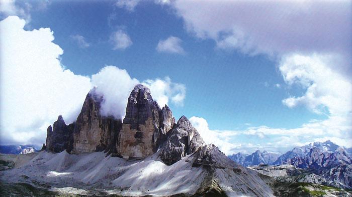 Bild 2: So eingestellt wie oben zu sehen, werden dunkle und helle Partien wie Bergflanken und Wolken betont, was das Bild kontrastreicher wirken lässt.