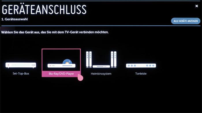 Mit einer Klappe: Die Magic Remote kann neben dem Fernseher auf Wunsch auch andere Geräte im Heimkino wie Blu-ray-Player oder Settop-Boxen steuern.
