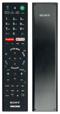 Edle Erscheinung: Die Fernbedienung des ZD9 kommt in einem hochwertigen Metallgehäuse daher, unterscheidet sich sonst aber nicht von Sonys normalem Signalgeber.