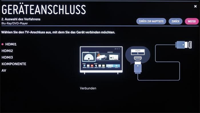 Aus einer Hand: Die Magic Remote kann als Universalfernbedienung für weitere Heimkino-Geräte wie Blu-ray-Player oder Settop-Box konfiguriert werden.