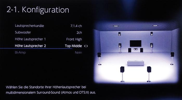 """Bei hinteren """"Top Middle""""-Boxen kann man die Position der vorderen Höhenboxen frei wählen."""