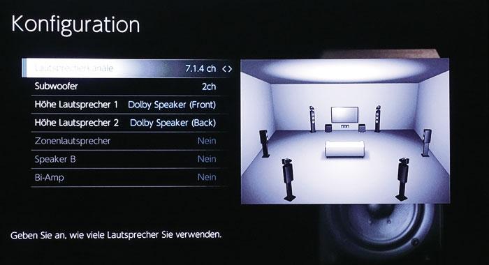 Aufsatz-Boxen (Dolby Enabled Speaker) lassen sich vorne, auf die Surround-Lautsprecher oder auch auf die Back-Rear-Boxen positionieren.