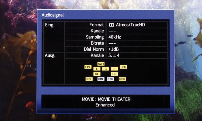 """Verbessert: Die DSP-Klangmodi (hier """"Enhanced"""") des RX-A3060 lassen sich jetzt auch mit 3D-Ton kombinieren."""