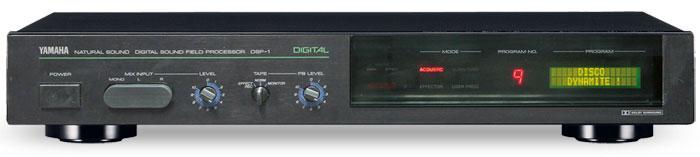"""Das erste Produkt mit DSP-Technik war im Jahr 1986 der """"Digital Sound Field Processor DSP-1"""", der nebenbei als Erster auch Dolby-Surround-Sound decodierte."""