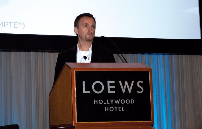 Dolby-Colorist Shane Ruggieri referierte über den Kreativ-Prozess beim HDR-Grading.