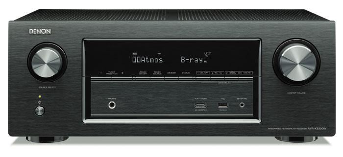 1.000 Euro: Der nur in Schwarz erhältliche AVR-X3300W macht bis auf die scharfen oberen Ecken der Frontplatte einen hochwertig verarbeiteten Eindruck. Das Display ist gut lesbar, verzichtet aber auf eine Kanal-Matrix.