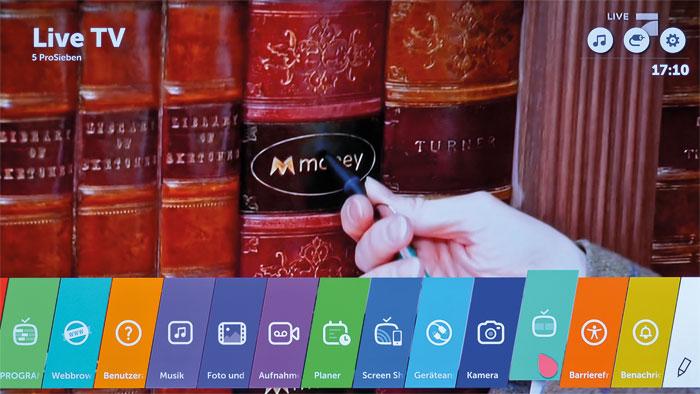Erweitert: Die webOS-Version 3.0 bietet unter anderem eine Lupenfunktion und eine bessere Smartphone-Einbindung, die Oberfläche selbst ist unverändert geblieben.