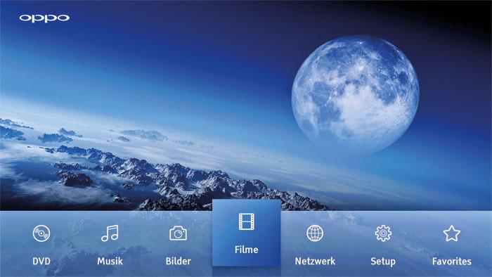 Schön anzusehen: Jedes der sieben Icons auf der Startseite ist mit einem anderen Hintergrundbild verknüpft.