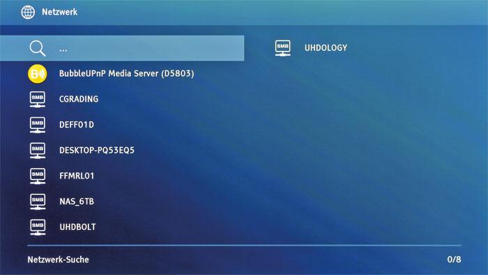 SMB und DLNA: Natürlich unterstützt Oppos Universalplayer auch das Multimedia-Streaming via Netzwerk. Als Quellen dienen zum Beispiel Computer und Smartphones.
