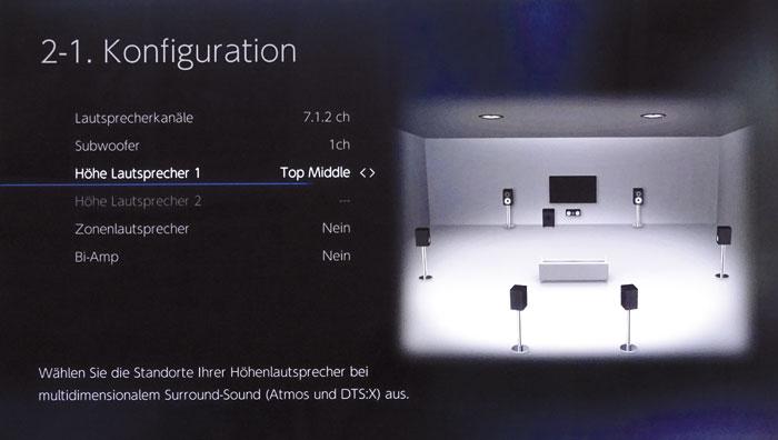 Dolby Enabled Speaker (Aufsatz-Boxen) kann man sowohl vorn auf die Hauptlautsprecher als auch auf die Rear- bzw. Back-Rear-Boxen setzen.