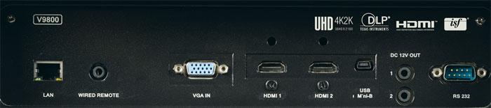 Einmal HDMI 2.0 mit HDCP 2.2: Der erste HDMI-Eingang ist HDR-kompatibel und empfängt UHD-Videos mit bis zu 60 Vollbildern pro Sekunde. Der zweite HDMI-Eingang eignet sich leider nur für Full-HD-Videos (HDMI 1.4a).