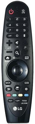 Handschmeichler: LGs Magic Remote trägt einen großen Teil zum Bedienkomfort bei. Allerdings unterstützt der B6 kein 3D, weshalb die Taste hinfällig ist.
