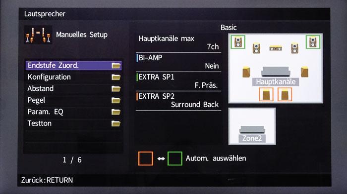 7.1.2-Setup: Ob die Höhenboxen oder die Back-Rears laufen, entscheidet der Decoder bzw. das Tonsignal.