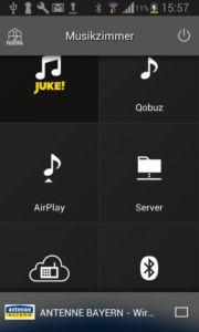"""Die """"MusicCast""""-App dient als Steuerzentrale für Yamahas Multiroom-System."""