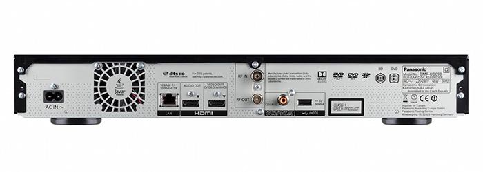 Je nach Ausstattungsvariante verfügt der Recorder über eine Kabel- oder Satellitenanschluss und ggt. einen Twin-HDMI-Ausgang