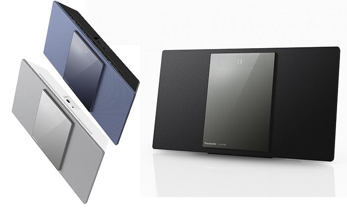 Das HiFi System SC-HC1040 gibt es in drei Farbvarianten: Schwarz, Silber und Blau