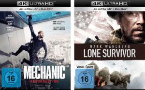 """Am 14. April erscheinen mit """"Lone Survivor"""" und """"Mechanic Resurrection"""" die ersten UHD-Discs von Universum."""